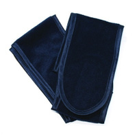Velour Headband 2pk Navy